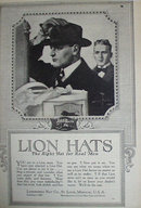 Lion Hats 1920 Ad