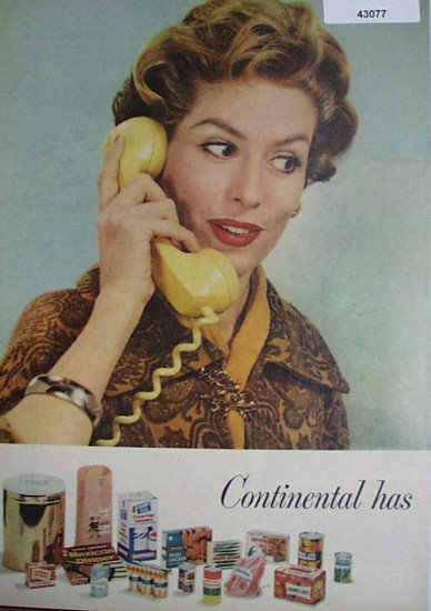 Continental Can Co. 1958 Ad