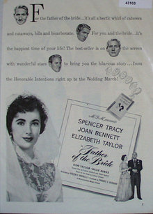 Movie Father of the Bride 1950 Ad