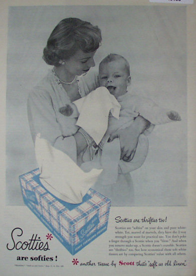 Scotties by Scott 1950 Ad.