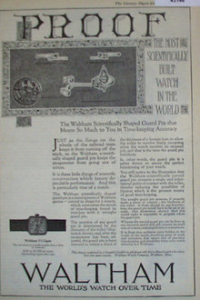 Waltham Scientifically Built Watch 1920 Ad