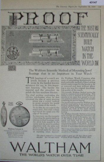 Waltham Scientifically Built Watch 1920 Ad
