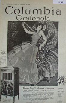 Columbia Grafonola 1920 Ad
