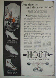 Hood Canvas Footwear 1920 Ad