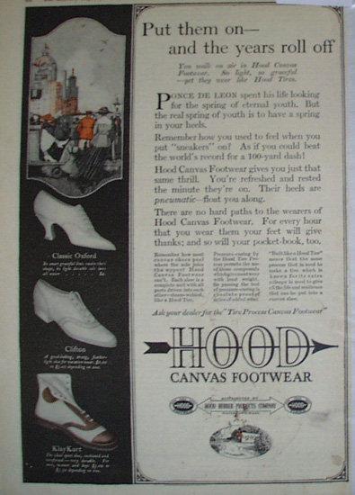 Hood Canvas Footwear 1920 Ad