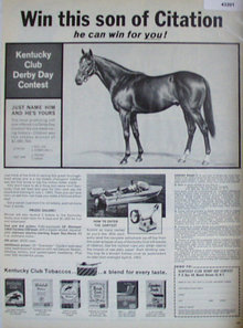 Kentucky Club derby Day Contest 1963 Ad