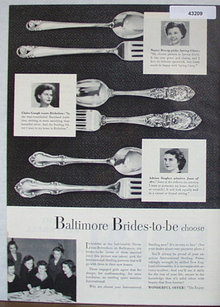 International Silver Co. 1950 Ad