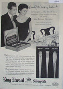 King Edward Exquisite Silverplate 1950 Ad