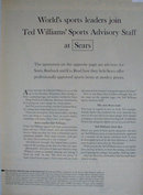 Sears Ted Williams Sports Advisory Staff 1963 Article