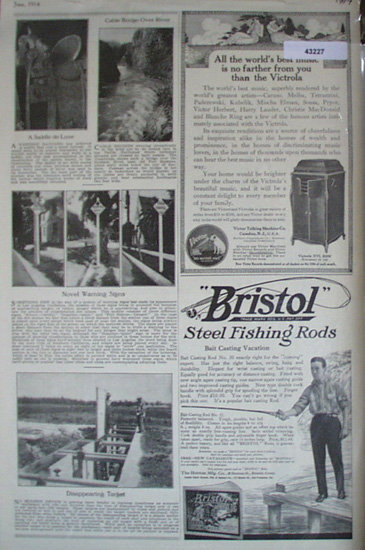 Bristol Steel Fishing Rods 1914 Ad