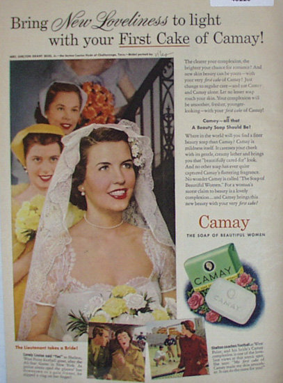 Camay Soap 1950 Ad