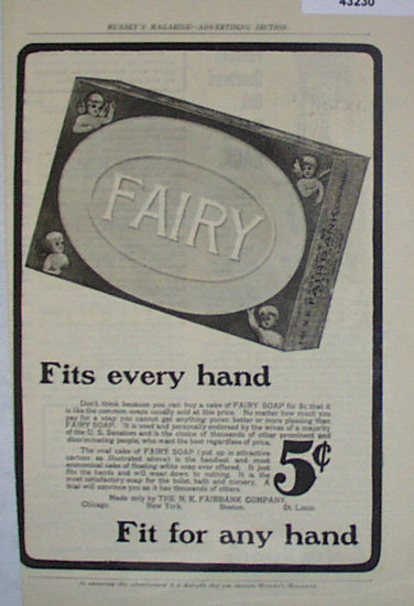 Fairy Soap 1907 to 1912 Ad