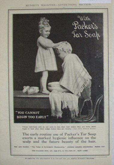 Packers Tar Soap 1907 To 1912 Ad