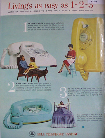 Bell Telephone System 1963 Ad