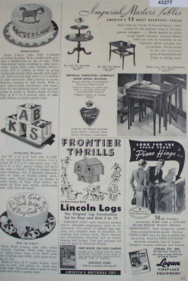 Lincoln Logs 1950 Ad