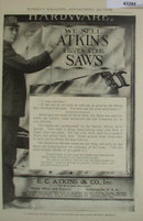 E.C. Atkins Co. Saws 1907 To 1912 Ad