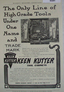 Keen Kutter Tool Cabinets 1907 To 1912 Ad