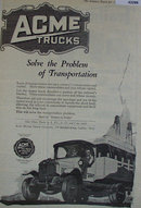 Acme Trucks 1920 Ad