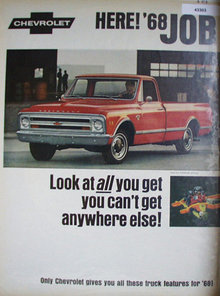 Chevrolet 68 Trucks 1967 Ad