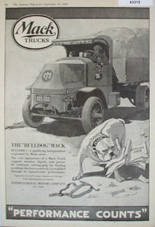 Mack Trucks 1920 Ad.