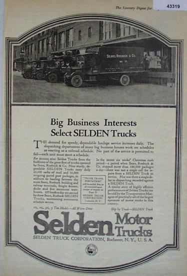 Selden Motor Trucks 1920 Ad