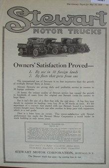 Stewart Motor Trucks 1920 Ad