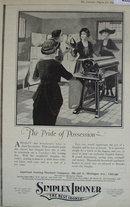 Simplex Ironer 1920 Ad.