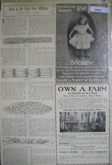 How To Be Your Own Milliner 1903 Article
