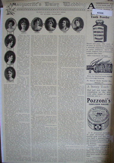 Marguerites Daisy Wedding 1903 Article