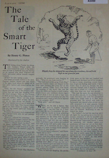 The Tale Of The Smart Tiger 1936 Story