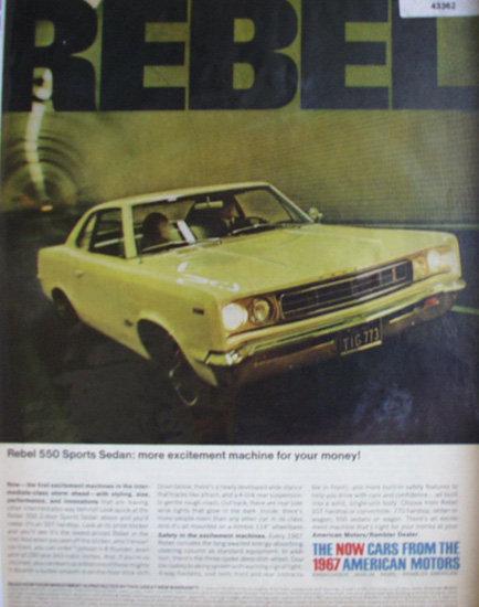American Motors Rebel 1967 Ad