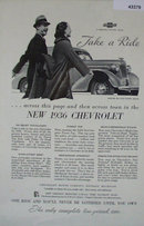 Chevrolet Master De Luxe Sedan 1936 Ad
