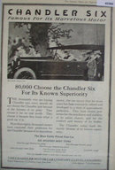 Chandler Six Car 1920 Ad