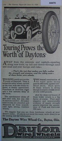 Dayton Wire Wheels 1920 Ad