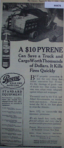 Pyrene Fire Extinguishers 1920 Ad