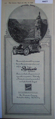 Pantasote Top Material 1920 Ad