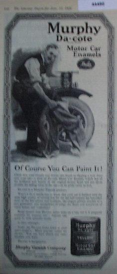 Murphy Da Cote Motor Car Enamels 1920 Ad