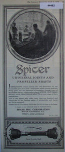 Spicer Universal Joints 1920 Ad