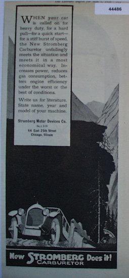 Stromberg Carburetor 1920 Ad