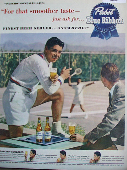 Pabst Blue Ribbon Beer 1950 Ad