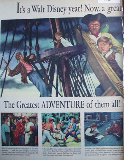 Walt Disney Treasure Island 1950 Ad