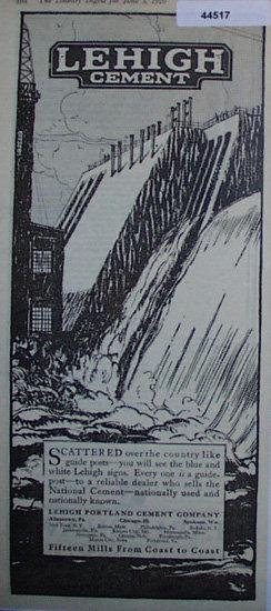 Lehigh Cement 1920 Ad