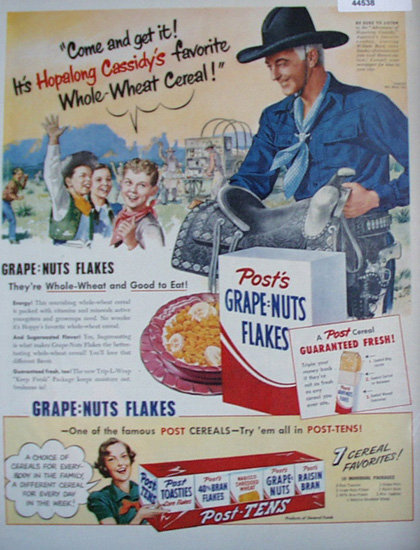 Posts Grape Nuts Flakes 1920 Ad
