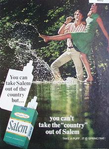 Salem Cigarettes 1969 Ad