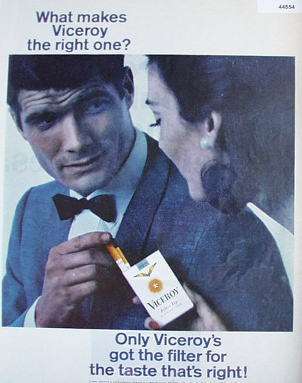 Viceroy Cigarettes 1966 Ad