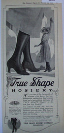 True Shape Hosiery 1920 Ad
