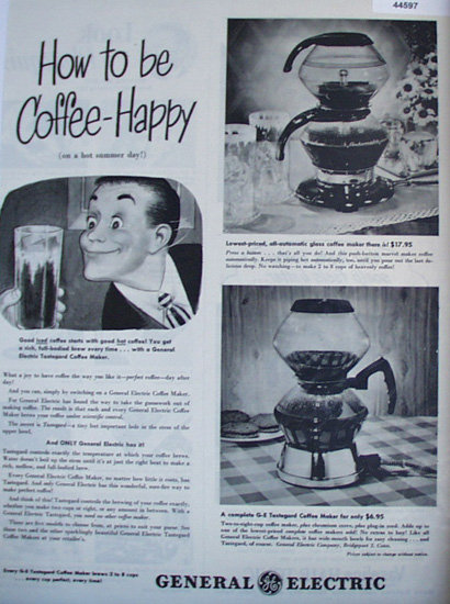 General Electric Coffee Maker 1928 Ad