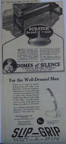 Slip Grip Soft Collar Fastener 1920 Ad