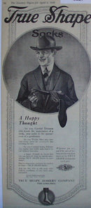 True Shape Hosiery 1920 Ad.