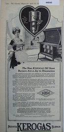 Kerogas Oil Stove Burner 1920 Ad